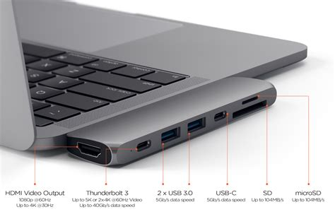 porta thunderbolt mac satechi launches type c pro hub for 2016 macbook pro with