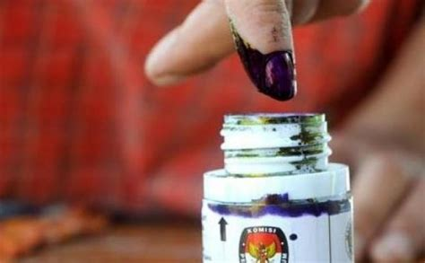 Tinta Untuk Pemilu 20 kabupaten kota di aceh ikut pilkada serentak 2017