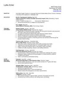 resume sles for teachers teaching cv template grade