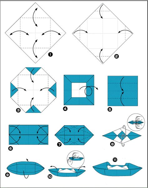 How To Make A Paper Boat For - how to make a origami boat origami and