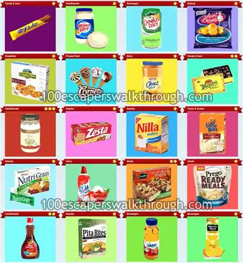 Guess G028 Paket 2 food quiz pack 17 answers 94 answers for 100 escapers walkthrough solution