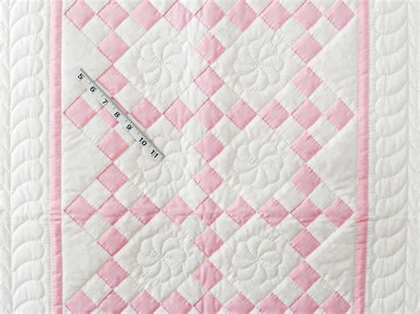How To Make A Crib Quilt by Nine Patch Crib Quilt Marvelous Skillfully Made Amish