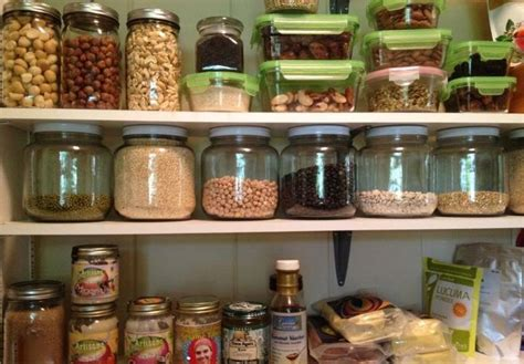 Sunflower Kitchen Canisters peek in the kitchen pantry of a health coach kul healthy you