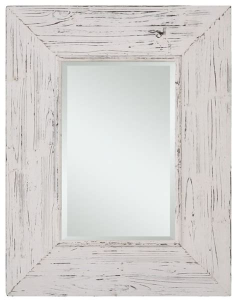 wilkes distressed white rectangular mirror rustic bathroom