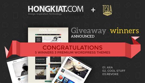 blog theme giveaway announcing the winners of teslathemes giveaway teslathemes