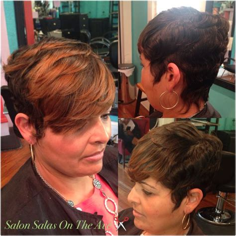 short urban hair stylist in charlotte nc styled by sala johnson owner stylist salon salas on the