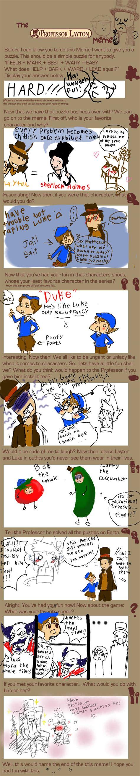 Professor Layton Meme - professor layton meme by cream filled ichigo on deviantart