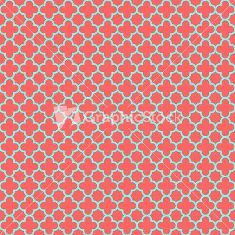 quatrefoil pattern image red and turquoise quatrefoil pattern