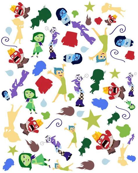 pattern character in c pattern inside out characters fear disgust sadness joy