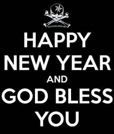 happy new year and god bless you poster youland keep