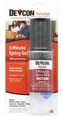devcon 5 minute verticle epoxy gel 25 ml 21045