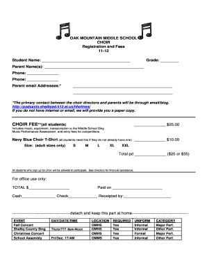 Application Letter To Be A Chorister Application Form To Join A Choir Fill Printable Fillable Blank Pdffiller