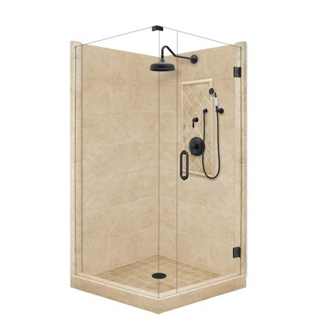 lowes bathroom shower kits shop american bath factory panel medium fiberglass and