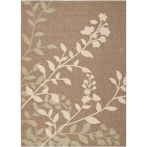 Cottage Area Rugs Safavieh Cottage Indoor Outdoor Brown Beige 6 Ft 7 In X 9 Ft 6 In Area Rug Cot909d 6 The