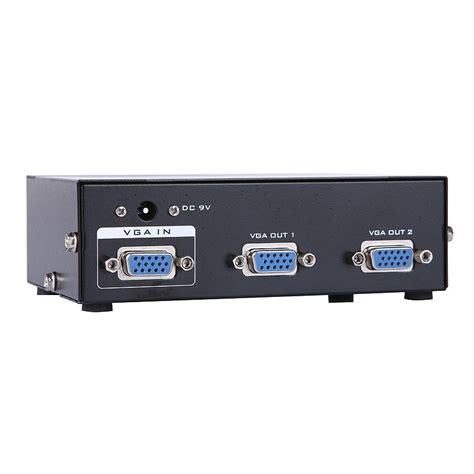 Vga Spliter 2 Port Splitter 1 2 2017 2 ports vga splitter to 2 port vga svga monitor tv