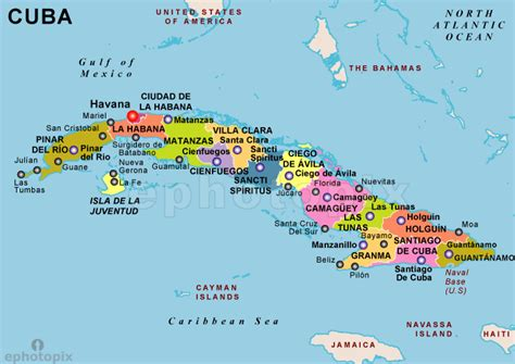 map of cuba cities pin cuba political map showing the cities on