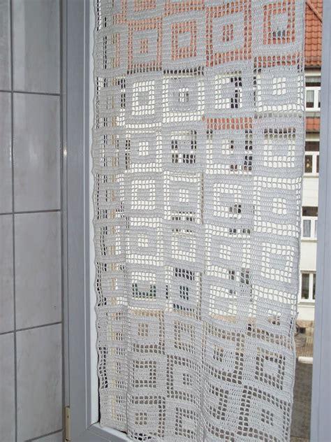 gardinen hakeln modern strickpauliesel gardine im bad tricotage