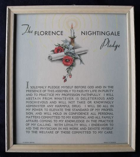 the florence nightingale pledge buzza print 1930 s a