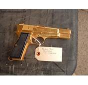 Gold Plated 9mm Browning  MilitaryImagesNet