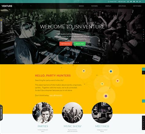 10 event management joomla templates themes creative