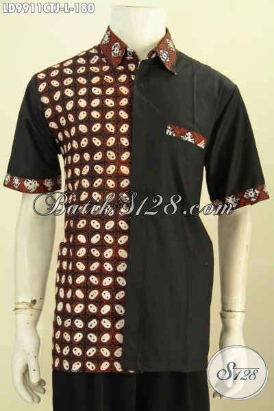 Q3 Kemeja Batik Modern Pria Lengan Pendek S Kode E2555 1 batik kemeja keren rilis 2017 pakaian batik modern pria