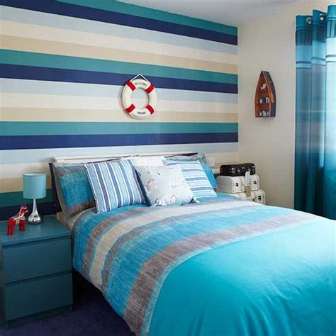 bedroom with stripes nautical striped bedroom bedroom colour schemes