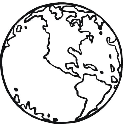 coloring page of a globe free printable earth coloring pages for kids