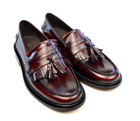 oxblood shoes oxblood tassel loafers the prince mod shoes