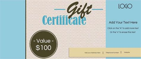 Gift Certificate Template With Logo Gift Certificate Template With Logo