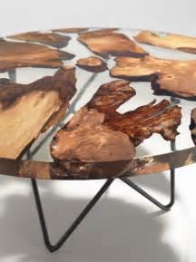 resine epoxy bois earth table une table en r 233 sine et bois de 50000 ans
