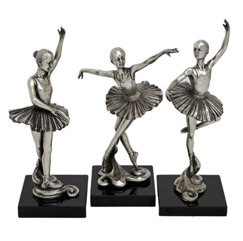 decorative figurines for home art deco girl ballerina figurine trio art deco decor