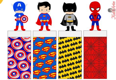 printable heroes superheroes free printable original nuggets wrappers oh
