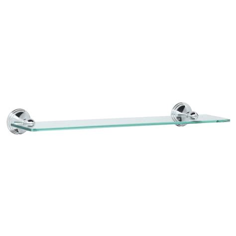bathroom shelves chrome moen 19 in w glass bath shelf in chrome dn8490ch