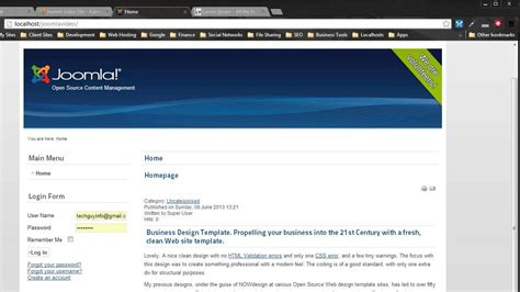 convert html to template convert an html template to joomla 2 5 3 0 part one