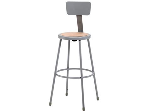 Metal Bar Stool With Backrest by Nps Metal Lab Stool With Backrest 30quot H Stools Metal