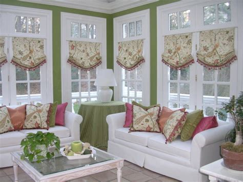 sunroom curtains window treatments sunroom in hingham