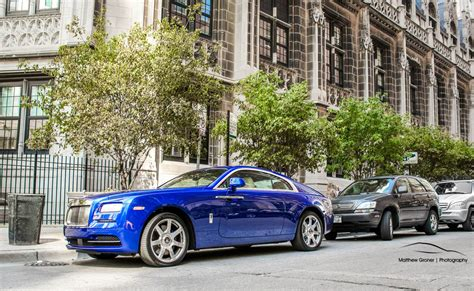 rolls royce blue photo of the day blue rolls royce wraith in chicago