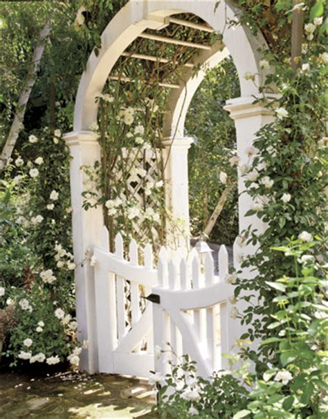 Garden Arbor With Gate White Hydrangea Hill Cottage Garden Arbors
