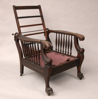 morris recliner chair william morris style oak recliner c late 19th century