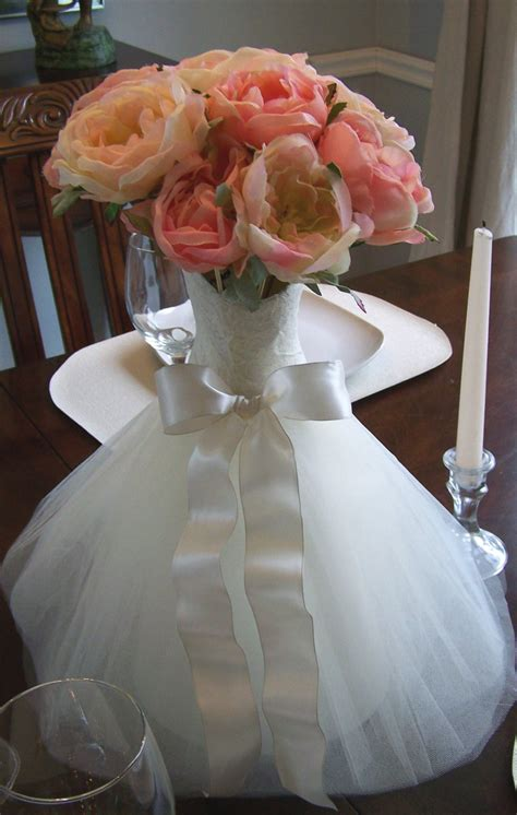 wedding table centerpiece bridal shower wedding centerpiece - Bridal Shower Table Centerpiece Ideas