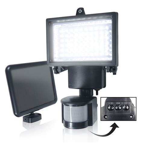 top 60 led solar powered sensor light security flood