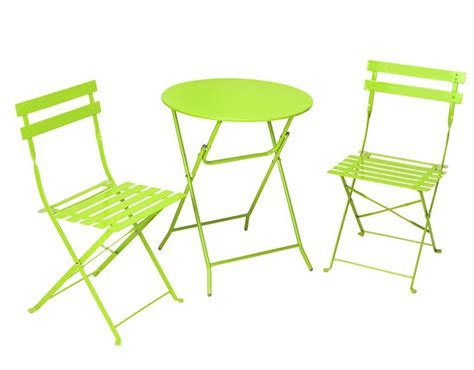 Folding Patio Table And Chairs Cosco Products Cosco 3 Folding Bistro Style Patio Table And Chairs Bright Green