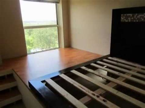 diy platform bed  storage youtube