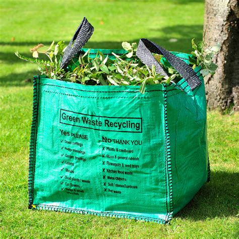 printed garden waste recycling bag 90 litre packaging