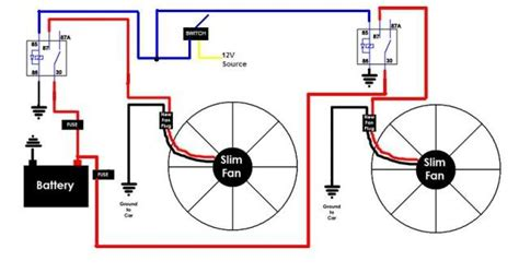 dual radiator fan wiring diagram dual electric fan wiring