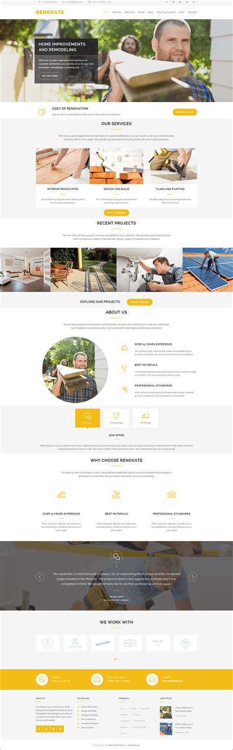Roofing Wordpress Themes Templates Free Premium Template Wp Responsive