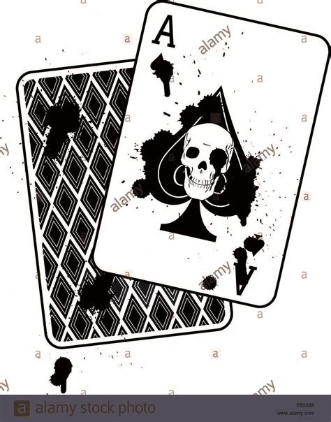 ace of spades aces eights books concept image of ace of spades with a skull image inside
