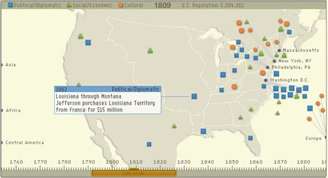 us map timeline digital history interactive timeline map of us history
