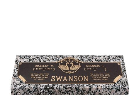 Flat Grave Markers With Vase by Devotions Swans Companion Bronze Grave Marker