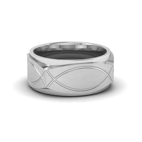 infinity mens wedding band infinity texture square gold mens wedding band ring in 14k